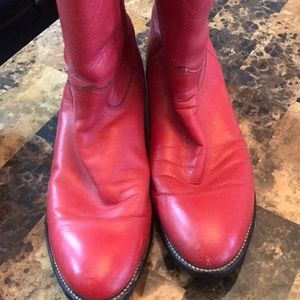 Shoes - Boots Justin red